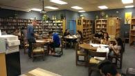 kids in library having fun!