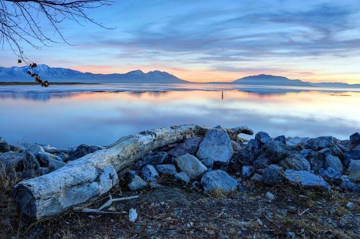 Provo - Winter Sunset on Utah Lake
